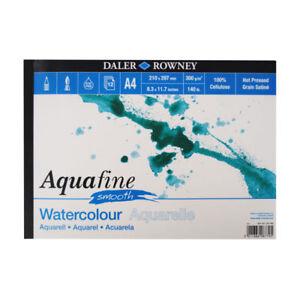 Daler Rowney Aquafine Acuarela PAD prensado en caliente 140lb/300gsm-A4 Suave  </span>