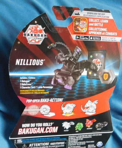 BAKUGAN Battle Brawlers Battle Planet BLACK  NILLIOUS 2 Bakucores 1 Card