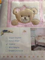 Kidsline Window Valance Pink Bow Bear Kidsline Baby Nursery Gingham