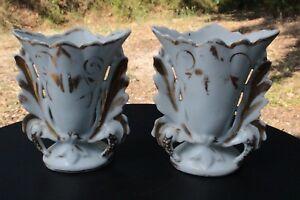 Paire-de-Vases-Porcelaine-Vieux-Paris-a-rehauts-d-039-or