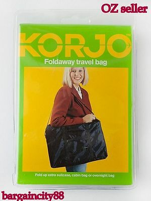 New KORJO Mens Womens Travel Foldaway Bag-Suitcase/Cabin sz/Overnight/Duffle Lrg