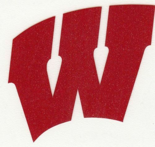 REFLECTIVE Wisconsin Badgers fire helmet decal sticker up to 12 inches