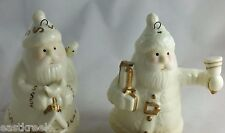 SANTA PAIR White Porcelain w/ Gold Ornaments NIB/OLD Stock Giftco,Inc. FREESHIP