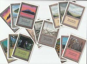 Unlimited-Basic-Land-Lot-15x-land-1x-of-each-MP-SP-Magic-the-Gathering-MTG-FTG