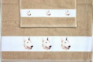 BULL-ENGLISH-TERRIER-DOG-SET-OF-HAND-AND-GUEST-TOWELS-SANDRA-COEN-ARTIST-PRINT