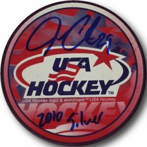 Jonathan-Quick-Hand-Signed-Autographed-LA-Kings-Puck-US-Olympics-Silver-2010