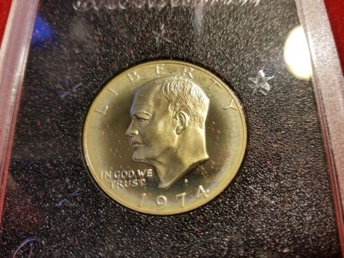 1974 S $1 Silver Proof Ike Dollar Eisenhower Type 2 Us Mint Coin Brown Box