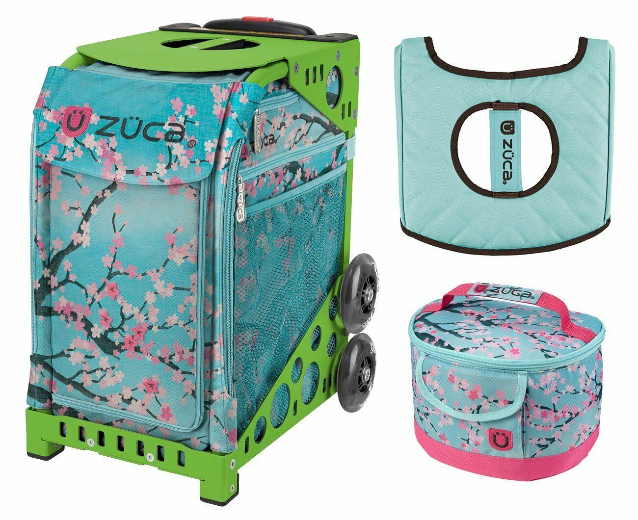 Zuca Sport Bag - Hanami with GIFT Lunchbox and Seat Cover (Green Frame)