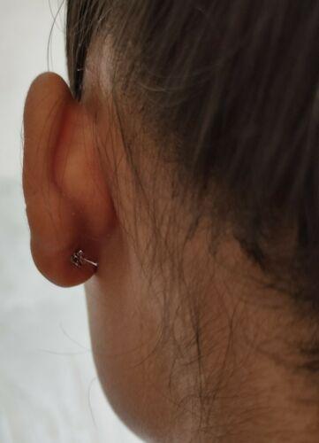 Rainbow Moonstone Studs Earrings Dainty Minimalist Tiny 925 Sterling Silver Boho