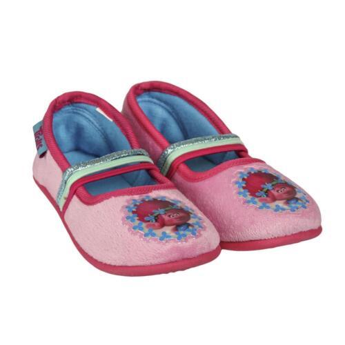 Sizes 11 Official Trolls poppy  Slippers