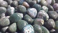 Three (3) Moss Agate Tumbled Stones Medium/large Natural Tumble Stones