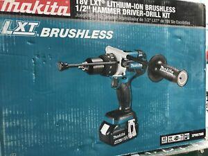 """Makita XPH07MB-R 18V LXT Brushless Cordless 1//2/"""" Hammer DriverDrill Kit 4Ah"""