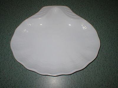 """Faberware White Shell Dinner Luncheon Snack Plate 11"""" x 9 3/8""""  One"""