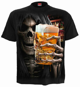 Spiral-Direct-LIVE-LOUD-T-Shirt-Beer-Skull-Biker-Goth-Reaper-Party-Gift-Rock