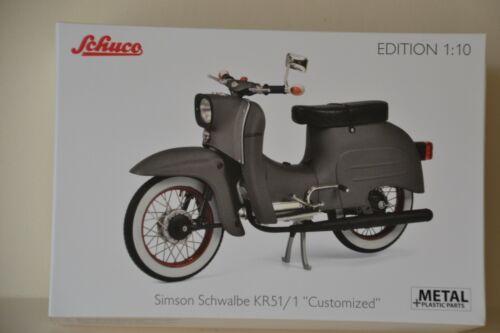 Simson Schwalbe KR51//1 Customized 1:10 von Schuco/>/>Neu in OVP/</<