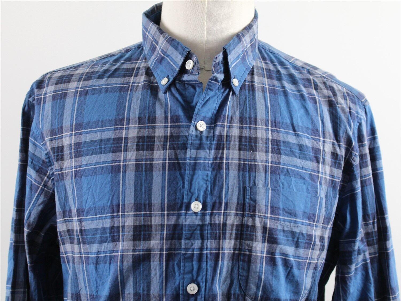 ba1288350ccf7 NEW J.Crew Slim Secret Wash Button Down Shirt MENS LARGE Heather bluee  Tartan