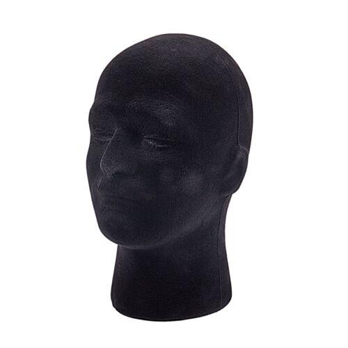 1X Maennliche Styropor Schaum Mannequin Gliederpuppe Kopf Modell Peruecken Gl z6