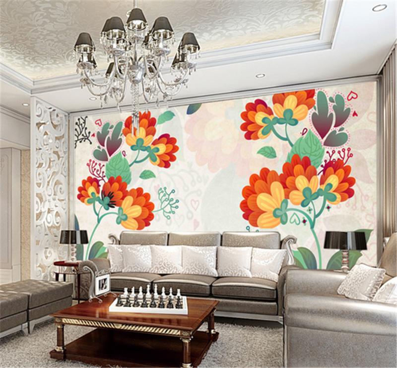3D Painted Flowers Pattern8 Wallpaper Mural Paper Wall Print Wallpaper Murals UK