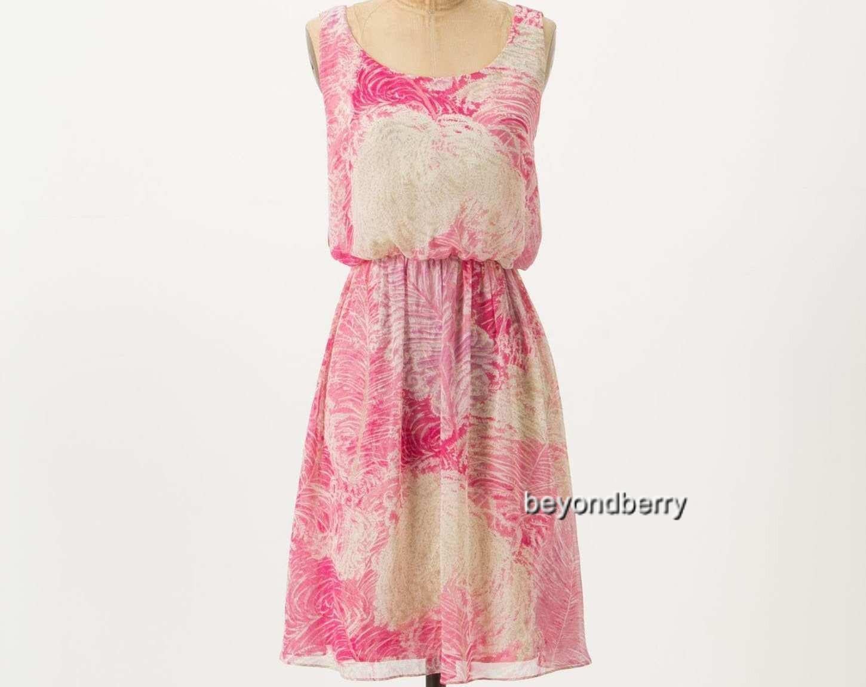 NEW Anthropologie Rosy Plumes Dress by Postmark  Größe 4