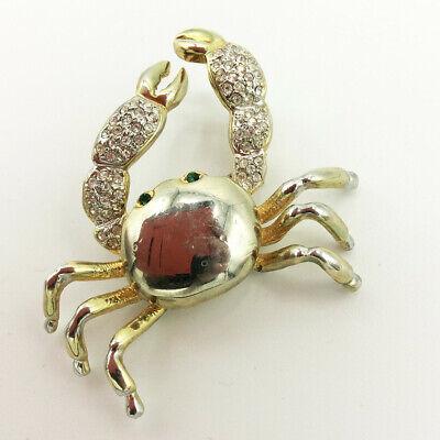 Small Crab Pin Zodiac Sign Cancer Pin RETRO cute Gold Plated and Black Enamel pin Starsign CRAB Brooch