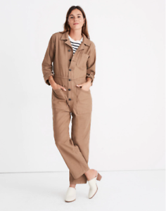 ca60fd89e145 BNWT NEW MADEWELL shop As Ever Long Sleeve Coveralls Jumpsuit top Sz ...