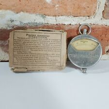 Sears Roebuck Antique Pocket Ammeter Voltmeter 1913 With Box Automobile Car