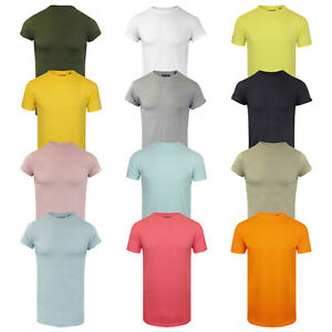 "Brave Soul Mens T Shirt Long Line Drop Tail /""Harrel/"""