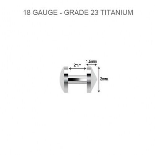 Disc Top Titanium Skin Diver Dermal Anchor Piercing Jewelry