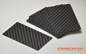 Carbon Fiber 3k Twill Universal Blank Business Cards 50 Pcs Ebay