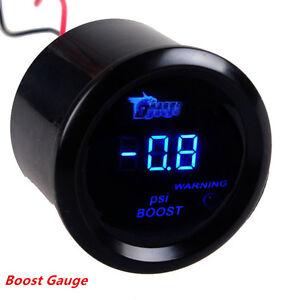 2-034-52mm-Black-Cover-Car-Digital-Blue-LED-Display-Warning-PSI-Turbo-Boost-Gauge