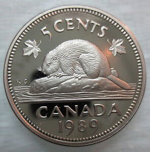 1989 CANADA 10 CENTS PROOF DIME HEAVY CAMEO COIN