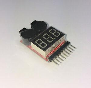 Lipo-Buzzer-Lipo-Wachter-1S-2S-3S-4S-5S-6S-7S-8S-akustisch-optisch