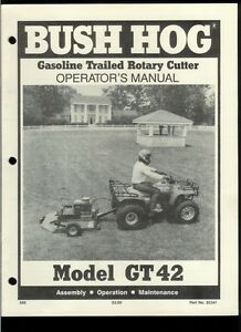 Bush Hog GT 42 Gas Trailed Rotary Cutter Rare Original Factory ...