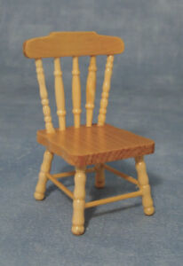 Pine Kitchen Chair, Dolls House Miniature. house furniture Seating 1/12  scale