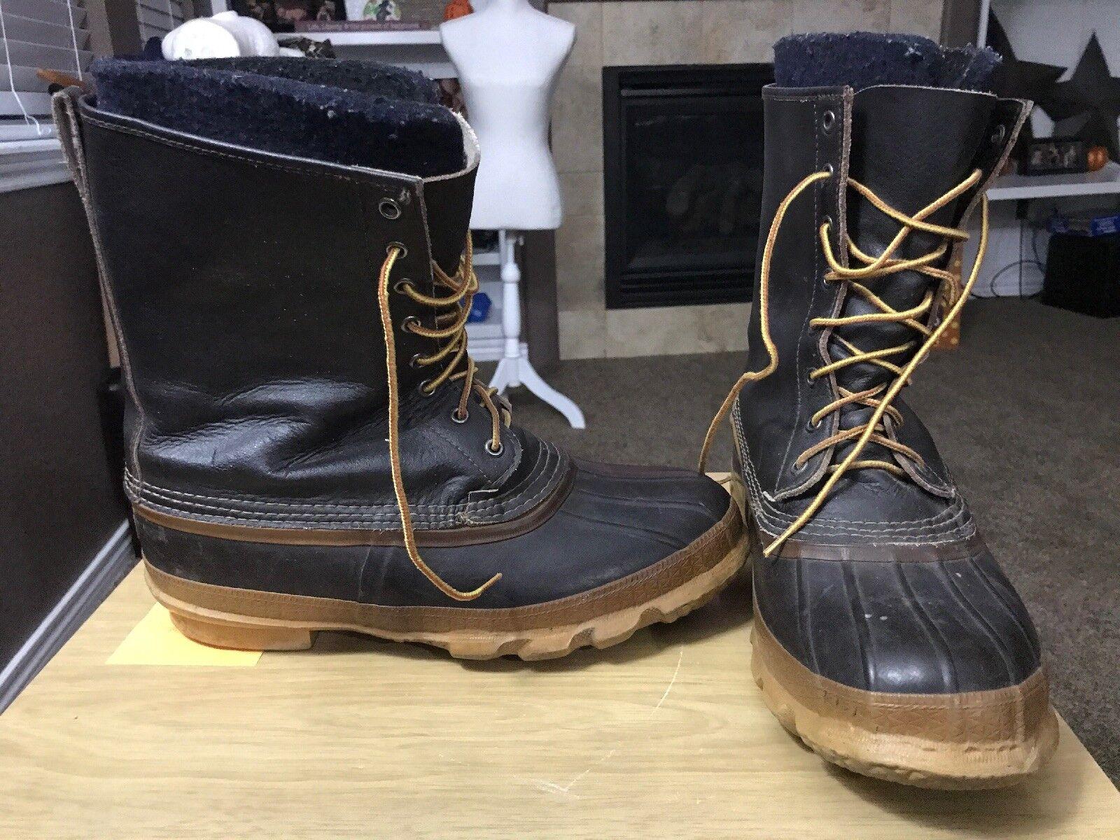 sconto prezzo basso Vintage LaCrosse Insulated Leather Winter stivali Steel Shank Shank Shank USA Uomo Dimensione 10  risparmia fino al 50%