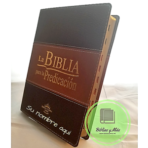 Biblia-Pastoral-Para-la-Predicacion-duo-tono-Cafe-Con-Indices-034-Personalizada-034