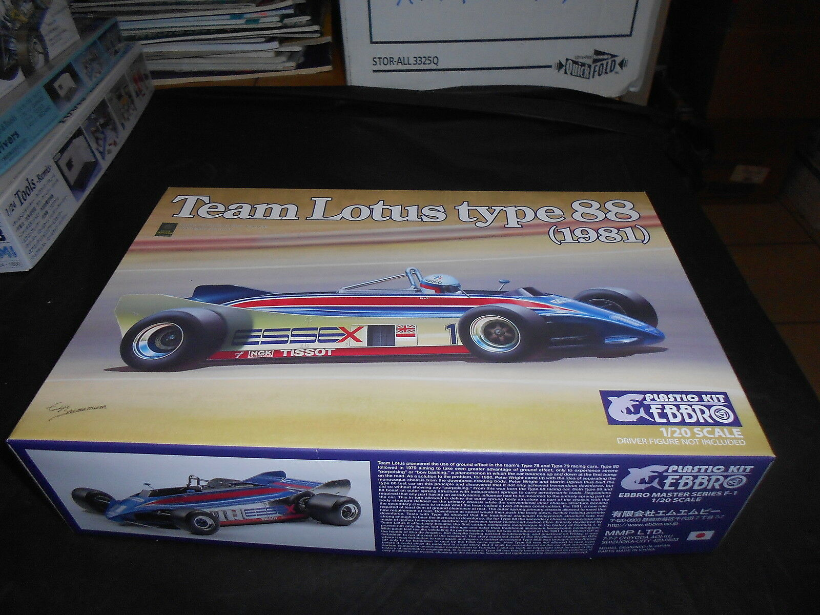 EBBRO 011, 1 20 TEAM LOTUS TYPE 88 (1981) PLASTIC MODEL KIT
