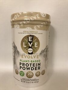 Evolve Plant Based Protein Powder Ideal Vanilla 16 Oz