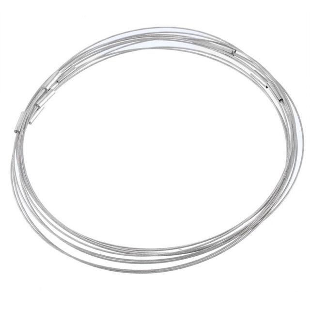 """10PCs Gray 18"""" Choker Necklace Magnetic Clasp Bubble Gum"""