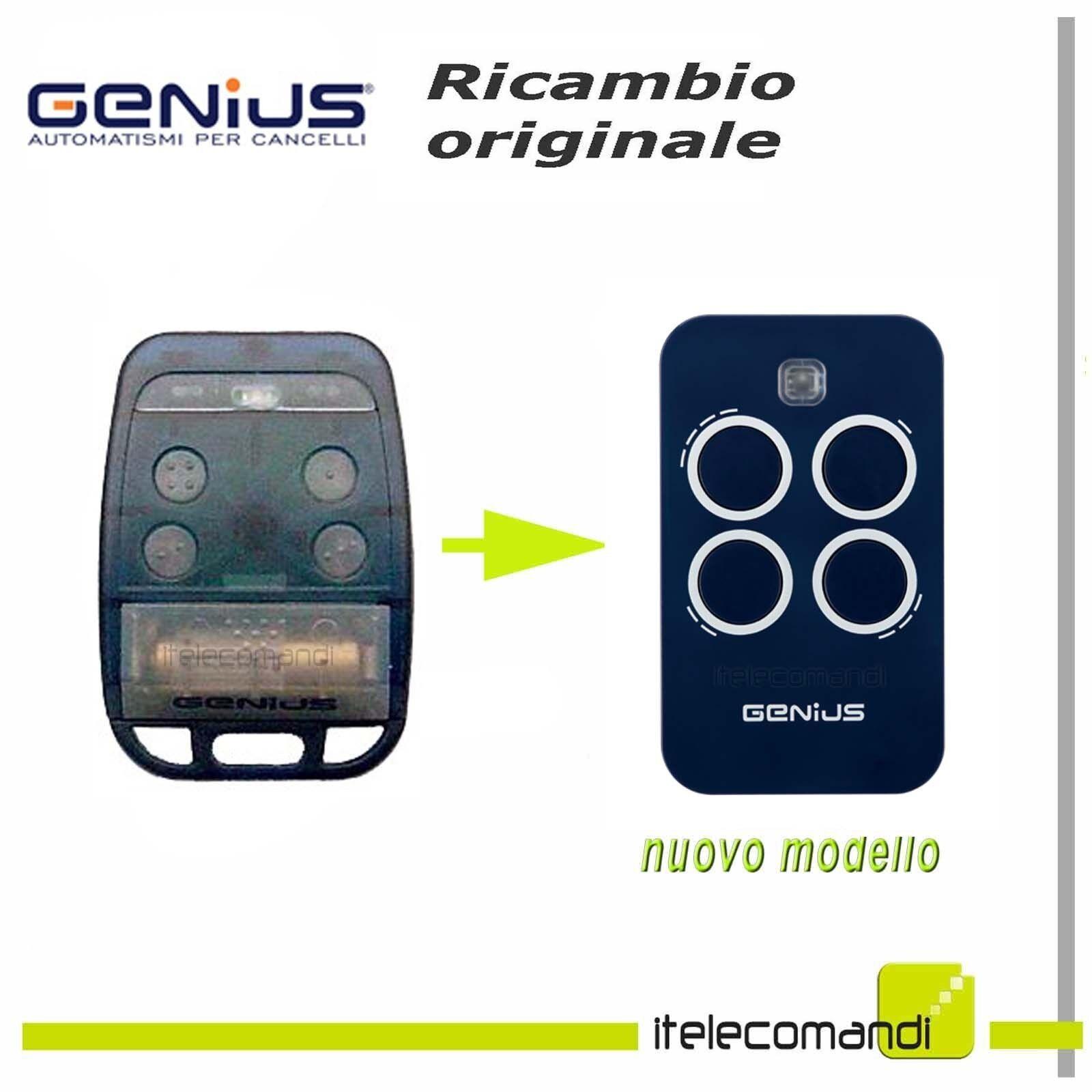 Télécommande radio Bravo Genius Bravo radio 4 TE4 433H > Echo4 ouvre portail 868 Mhz 5d1393