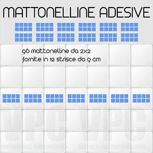 96 mattonelle adesive per piastrelle 12 striscie da 8 for Mattonelle da muro