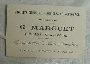 CHELLES 77 Ancienne Carte De Visite MARGUET Droguerie