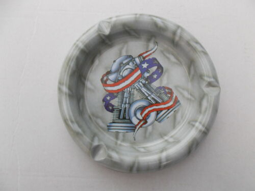 DAVIDSON DESIGN METAL ASHTRAY MOTORCYCLE CLUB Free Shipping UK AMERICAN HARLEY