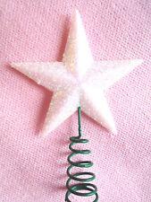 Cranberry Christmas Tree Top Star Topper Glitter finish 20cm