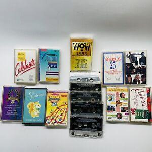 Lot of 15 Christian Inspirational Gospel Childrens Various Artists Cassette Tape