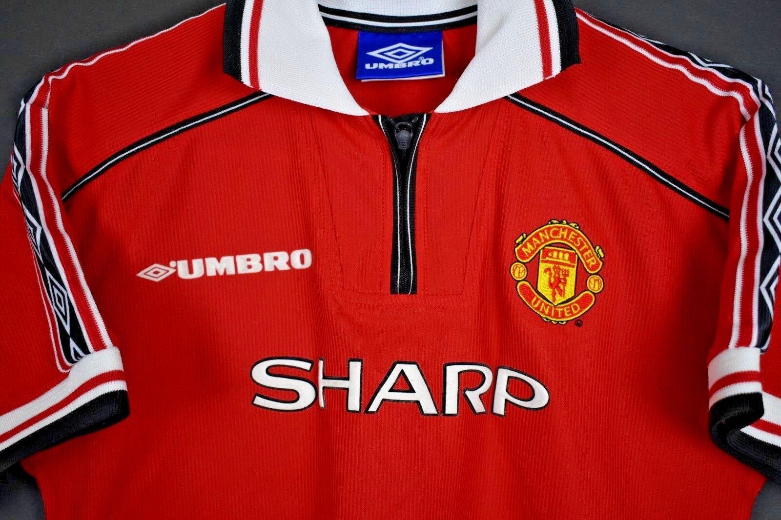 Manchester United Umbro shirt 1999 treble football soccer jersey XXSkids large
