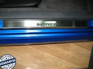 Stainless-Steel-Door-Sill-Guard-Scuff-Protectors-fit-SUBARU-IMPREZA-GH-2007-2011