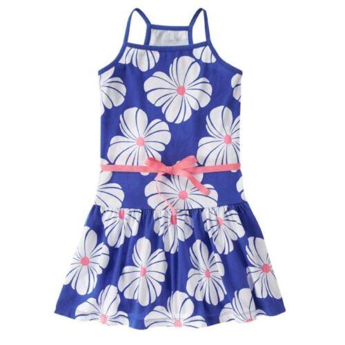 Gymboree Hop n Roll blue floral dress new nwt girls 7 white flowers summer