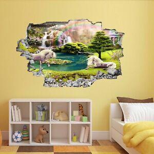 Bon CœUr Licorne Conte De Fée Magique Forêt Fairyland Rainbow Wall Sticker Mural Az21-afficher Le Titre D'origine Facile à Lubrifier