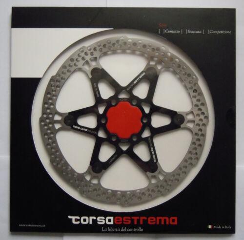 NEW Singolo disco Semi-flottante Light ergal NERO//BLACK 180mm Corsa Estrema